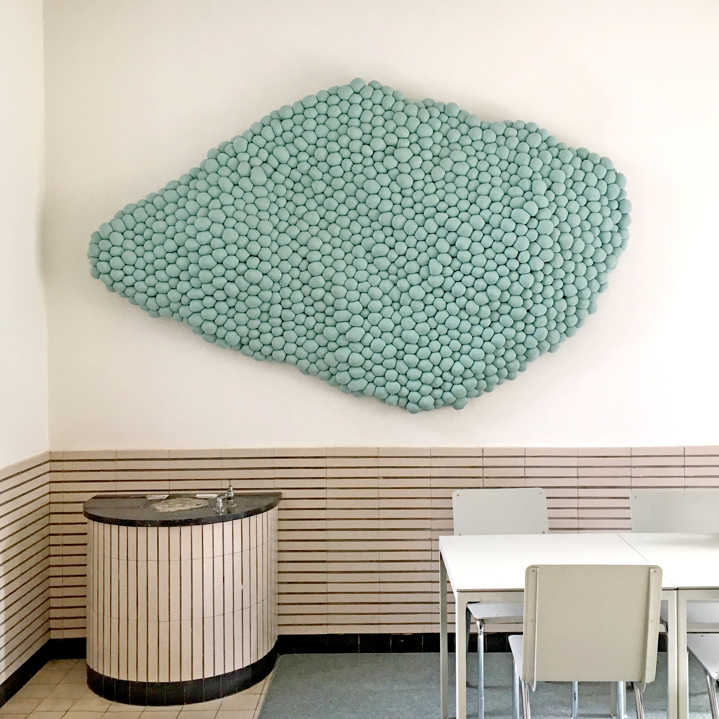 Growing Textiles Wolwerken Kleine Campus Acoustic Wallpiece